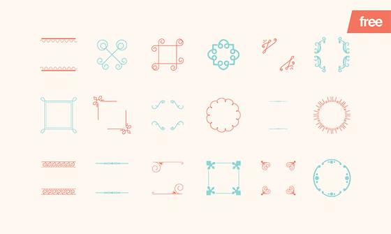 Embellishments - 18 Vector Shapes
