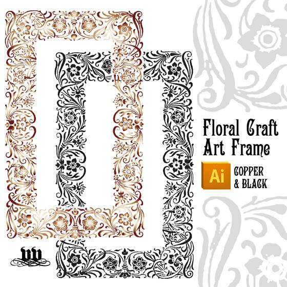 Floral Craft Art Frame