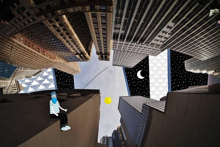 建物の隙間の空がキャンバスに!新しい視点で生み出すイラスト・アート作品 - 10