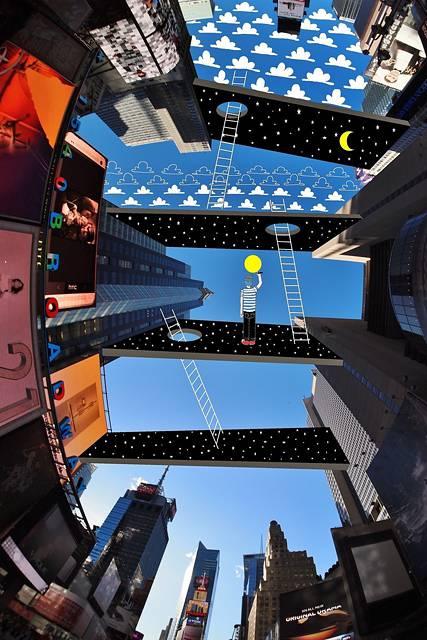 建物の隙間の空がキャンバスに!新しい視点で生み出すイラスト・アート作品 - 11