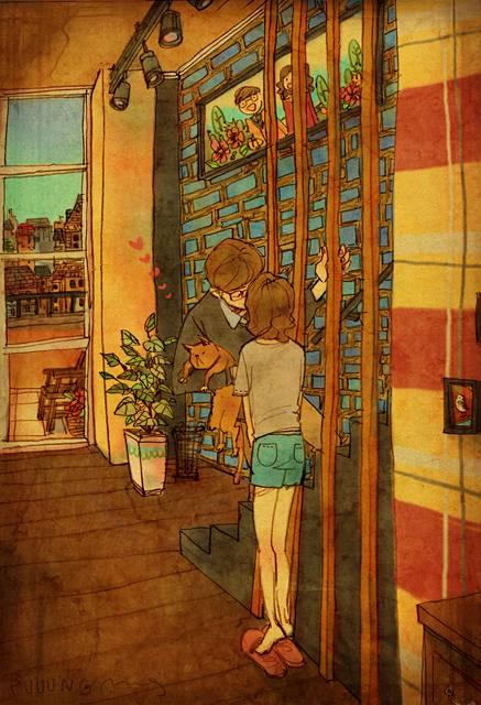 ある恋人たちの日常を描いた愛情あふれるイラスト作品 - 03