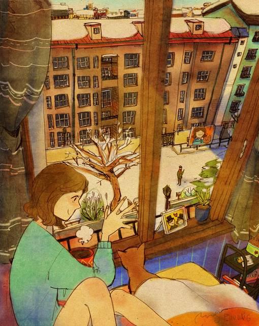ある恋人たちの日常を描いた愛情あふれるイラスト作品 - 04
