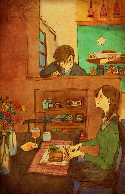 ある恋人たちの日常を描いた愛情あふれるイラスト作品 - 06