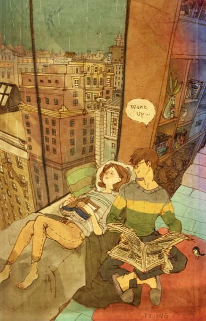 ある恋人たちの日常を描いた愛情あふれるイラスト作品 - 12