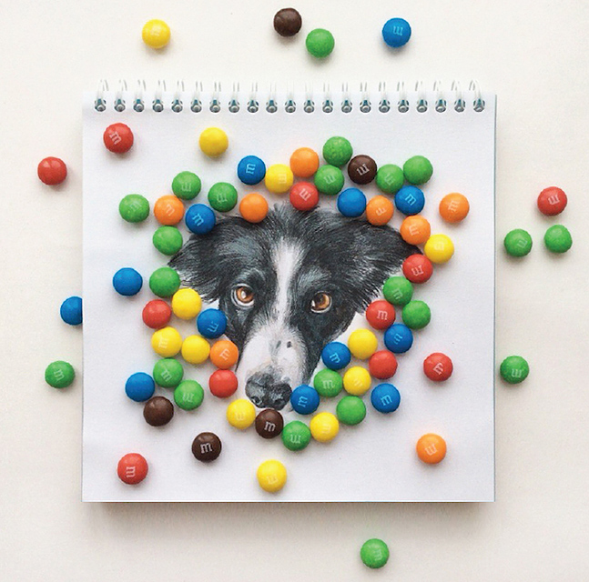 スケッチブックの中の犬と遊ぶイラストレーター - 08