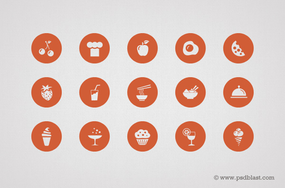 50 Food Icon Set