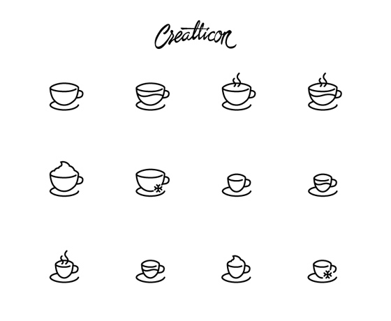 High-Quality Coffee Shop Icon Set