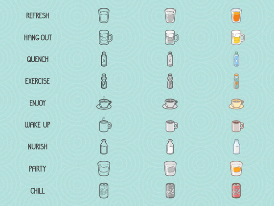 Free Drinks-Lifestyle Icon Set