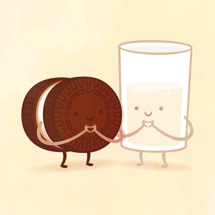 クッキーとミルク