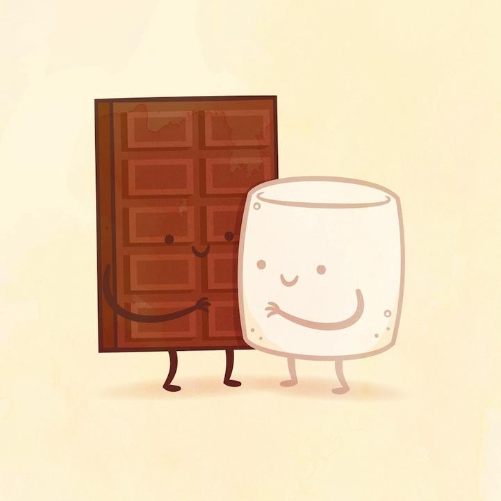 チョコレートとマシュマロ