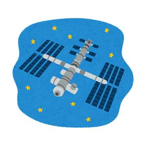 国際宇宙ステーション・ISSのイラスト