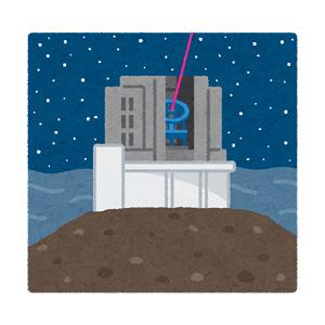 すばる望遠鏡のイラスト