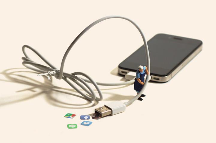 USBケーブルは掃除機に!