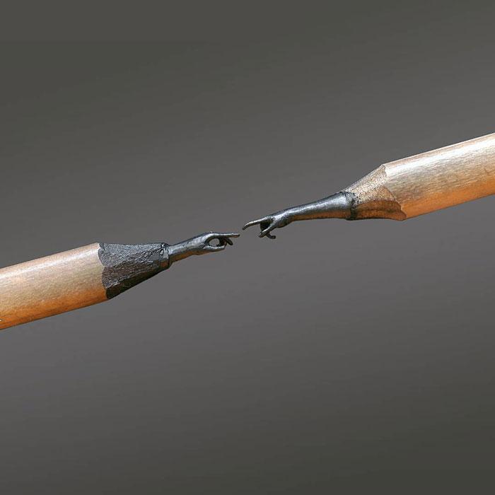 鉛筆の芯で作る超極小の彫刻作品シリーズ - 02