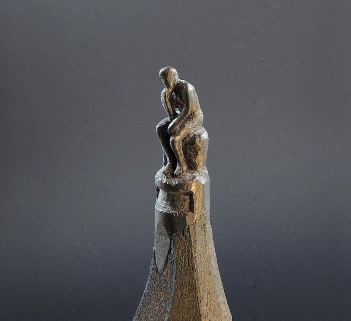 鉛筆の芯で作る超極小の彫刻作品シリーズ - 04