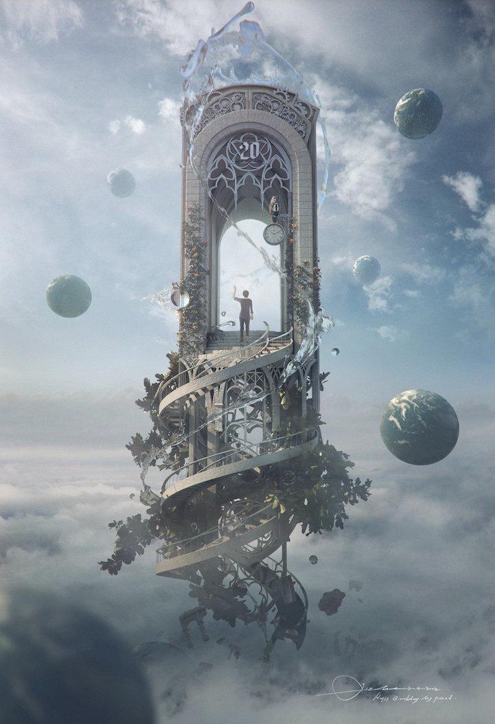 壮大なスケール感の美しいファンタジーアート作品 - 05