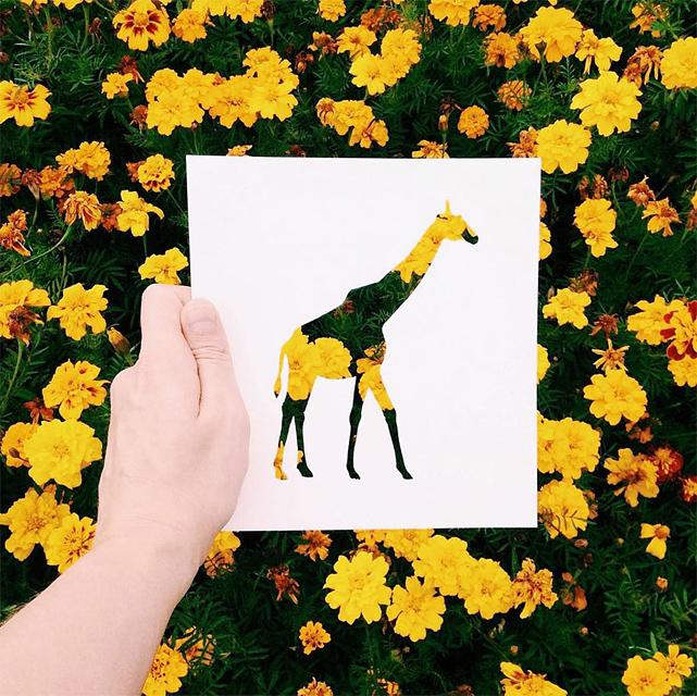 動物のシルエットで切り取って作る美しいアート作品 - 03