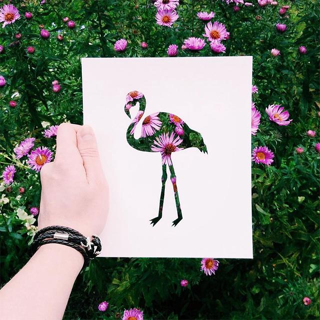動物のシルエットで切り取って作る美しいアート作品 - 09
