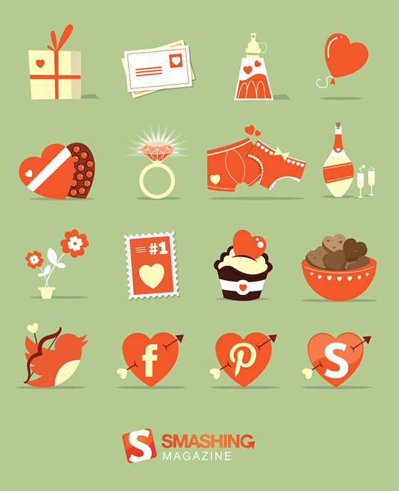 St. Valentine's Day Icon Set